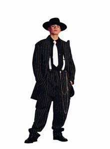 Zoot Suit   Adult Large, Black/White Costume Sports