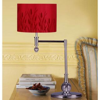 Red Macus 1 light Metal Table Lamp