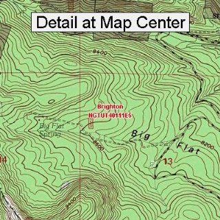 USGS Topographic Quadrangle Map   Brighton, Utah (Folded