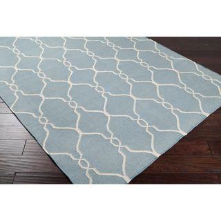 Jill Rosenwald Hand woven Blue Masoleum Wool Rug (5 x 8)