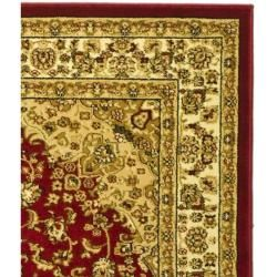 Lyndhurst Collection Red/ Ivory Rug (6 x 9)