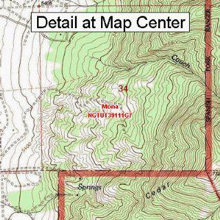 USGS Topographic Quadrangle Map   Mona, Utah (Folded