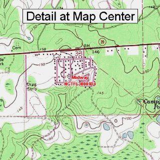 USGS Topographic Quadrangle Map   Midway, Florida (Folded