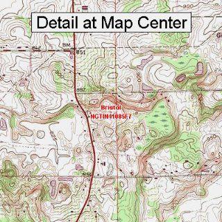 USGS Topographic Quadrangle Map   Bristol, Indiana (Folded