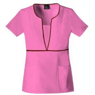 Baby Phat Neo Chic Plunge Keyhole Scrub Top with Tonal