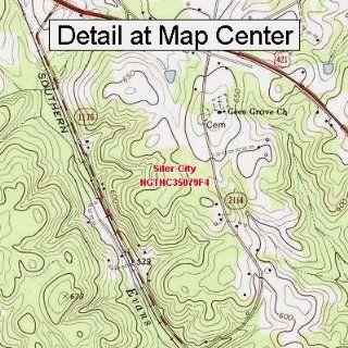 USGS Topographic Quadrangle Map   Siler City, North