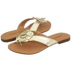 Madden Girl Flowwer Gold Metallic Sandals