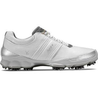 Ecco Mens White / Concrete BIOM Golf Shoes