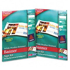 Avery 2707 Banner Sign Kit   18 x 48 (2 Signs/Carton)