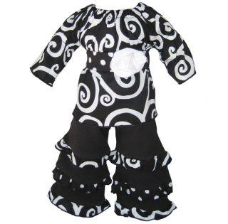 Ann Loren Modern Swirl Outfit For 18 inch American Girl Dolls