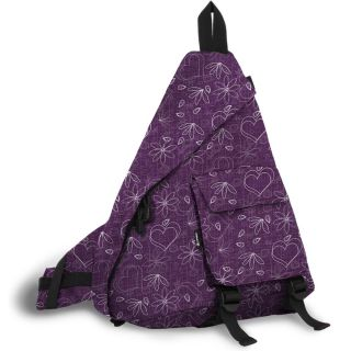 World Purple Love Letter 19 inch Sling Bag