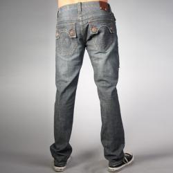 Laguna Beach Jean Co. Mens Dark Blue Skull Pocket Slim Jeans