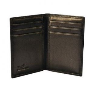 Flat Card Case Color Italian Cognac Old Fashioned Leather
