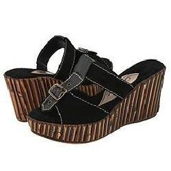Dezario Shore Black Sandals (Size 10)