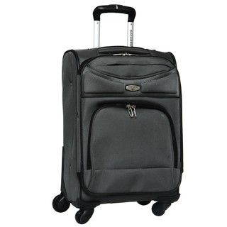 Dockers Grey North Point 20 inch Expandable Carry on Spinner Upright