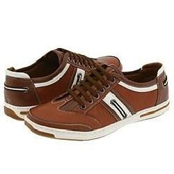 Steve Madden Navigait Cognac Leather Athletic