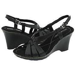 Bandolino Dottie Black Leather Sandals