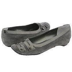 Vaneli Indo Dark Grey Suede w/Diadema Patent Flats