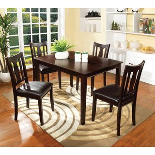 Enitial Lab Calipso 5 piece Walnut Dining Set