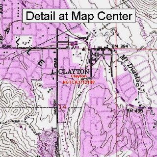 USGS Topographic Quadrangle Map   Clayton, California
