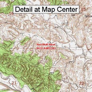 USGS Topographic Quadrangle Map   Red Bluff West