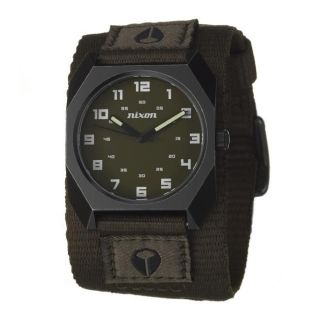 Nixon Mens The Scout Black Stainless Steel and Fabric Quartz Watch