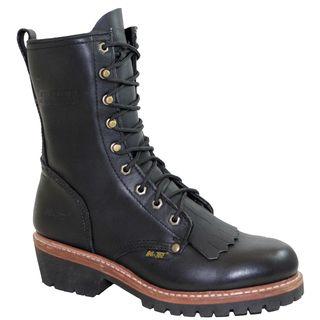 AdTec Mens 10 inch Black Fireman/ Logger Boots