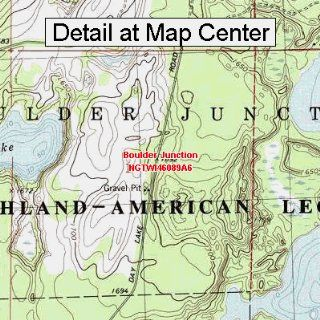USGS Topographic Quadrangle Map   Boulder Junction