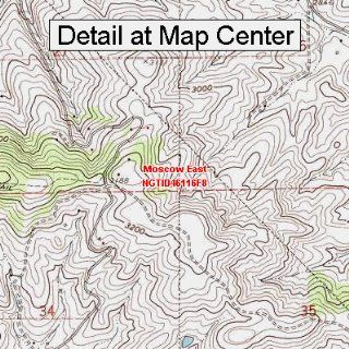 USGS Topographic Quadrangle Map   Moscow East, Idaho