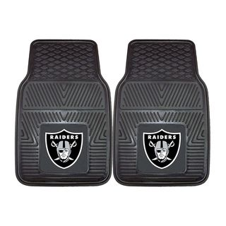 Fanmats Oakland Raiders 2 piece Vinyl Car Mats