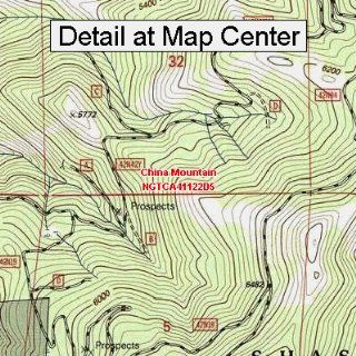 USGS Topographic Quadrangle Map   China Mountain
