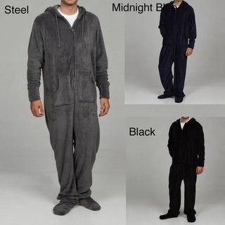Alexander Del Rossa Mens Microfleece One piece Pajamas