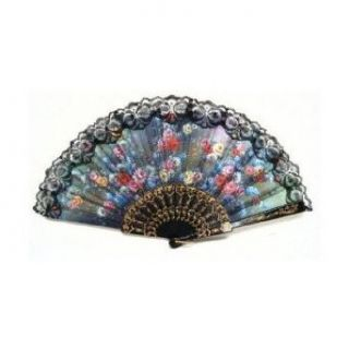 SODIAL  New Spanish Hand Fan Decorative Design Clothing