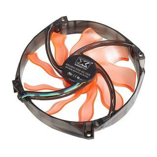 Ventilat Boitier PC 140 mm   LED oranges   140x140x25 mm   18dBA