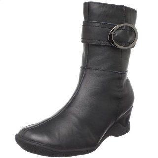 Santana Womens Fiorina Boot,Black Leather,6 M US Shoes