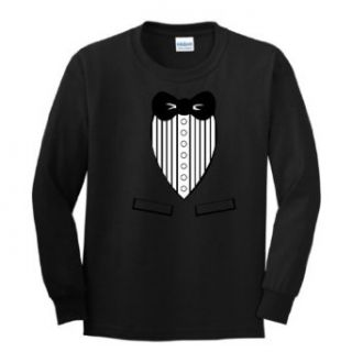 Tuxedo YOUTH Long Sleeve T Shirt Funny Humor Tux Classy