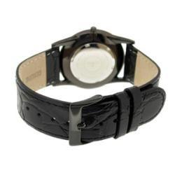 Le Chateau Mens Classica Diamond Slim Black Dial Watch