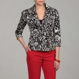 Katherine New York Black/ White Abstract Jacket