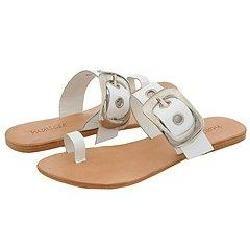 Matisse Kiwi White Patent Sandals (Size 6)