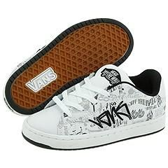 Vans Kids Terminus Tag White Athletic Shoes   Size 11 T