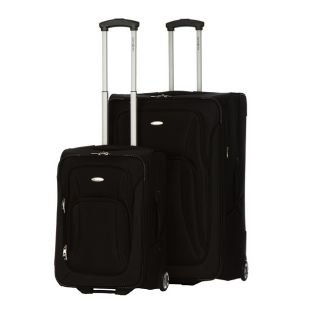 Black 2 piece Upright Luggage Set (21 inch & 29 inch)