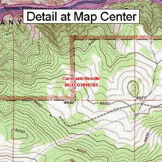 USGS Topographic Quadrangle Map   Curecanti Needle