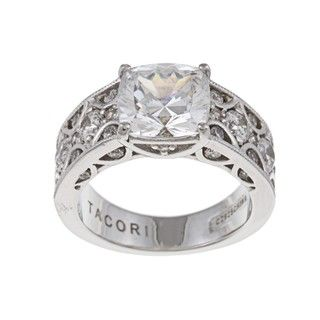 Tacori IV Sterling Silver Cubic Zirconia Crescent Ring