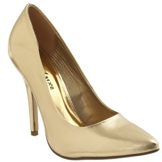 Riverberry Womens Axel Gold Pumps
