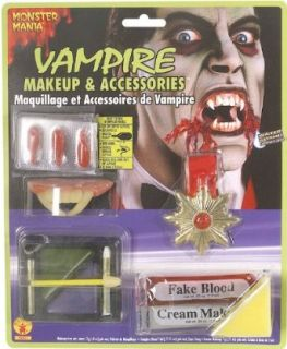 Vampire Costume Makeup and Accessories Kit Clothing