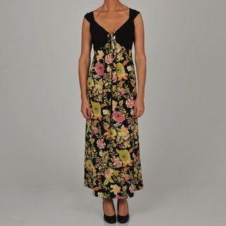 Tiana B Womens Floral Print Maxi Dress