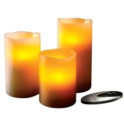 Sarah Peyton   Set de velas artificiales con control remoto, 3 piezas