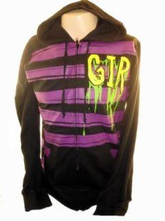 Invader Zim Hoodie Sweatshirt   Gir Purple Stripe Splat