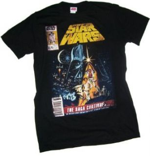 Star Wars    Comic Book Cover T Shirt, X Large Clothing