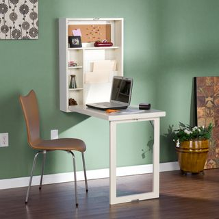 Murphy Winter White Fold Out Convertible Desk